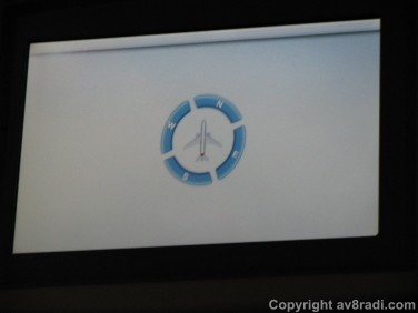 The compass was shown on the communal screen