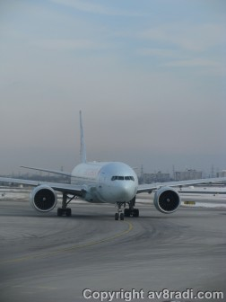 This AC777 waits for us to taxi by