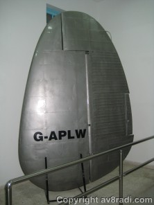 Rudder of the Lockheed Constellation (this is one of the three tail fins)
