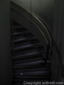Stairs to the upper deck...Economy passengers weren't allowed there :(