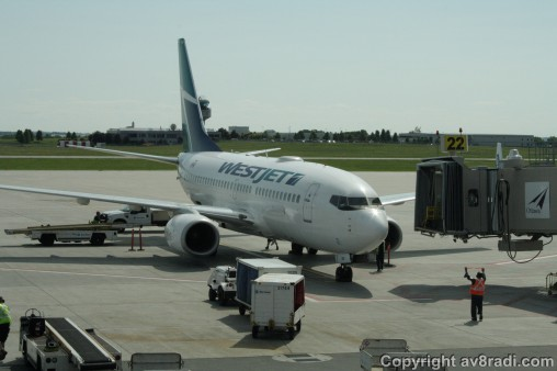 A close-up of my ride to YYZ