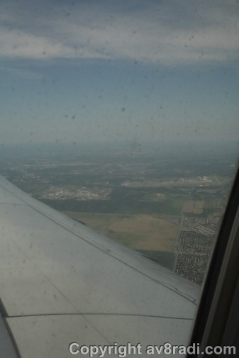View of the runway (YOW) we took off from (far right)