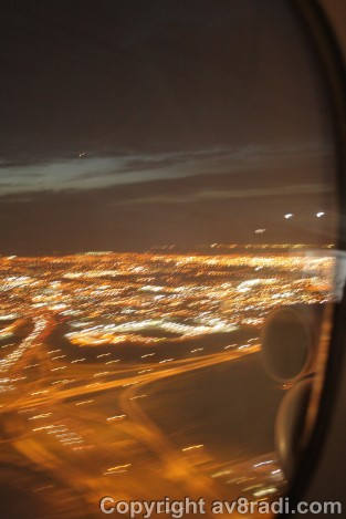 Taking off with a view of YYZ (sorry about the blurriness)