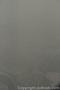 DXB on a hazy day