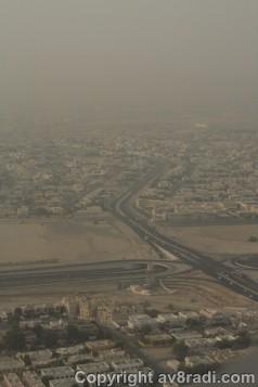 Views of Dubai as we land into DXB