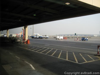 The Terminal 2 apron...the first aircraft is my ride