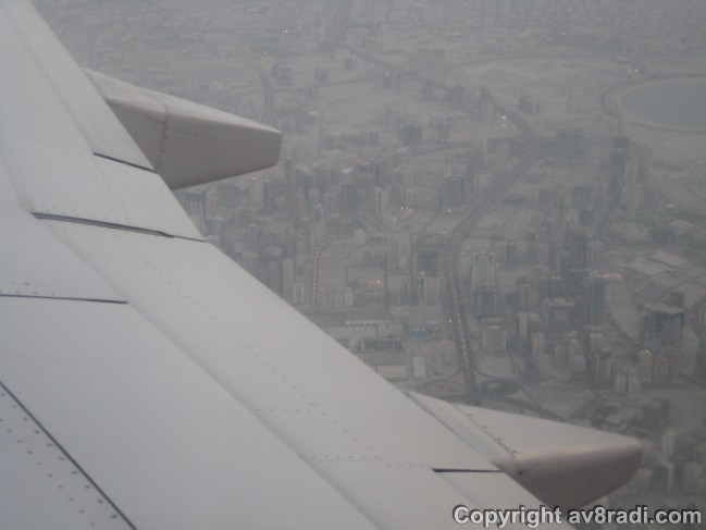 Flying over SHJ