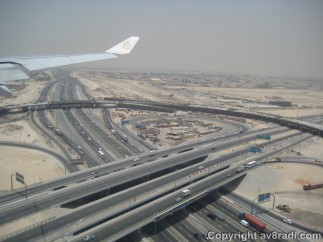 On finals…..thats Emirates Road below….connects all the 7 emirates