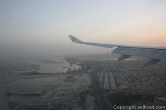Almost there…that's Sharjah (SHJ) in the background