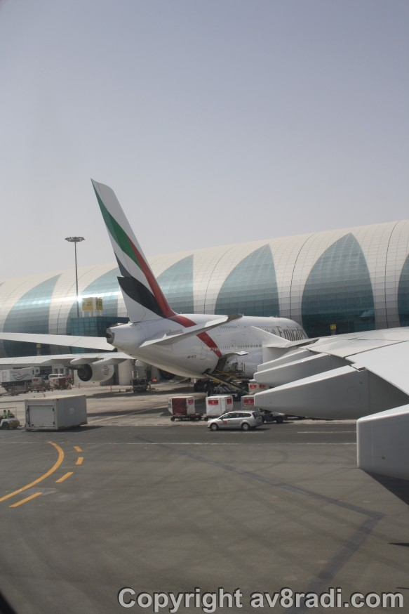 A better view of the A380 beside us!!