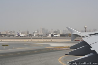 Over looking DXB's Cargo Village. (Notice the Dubai Metro Rail Station in the background)