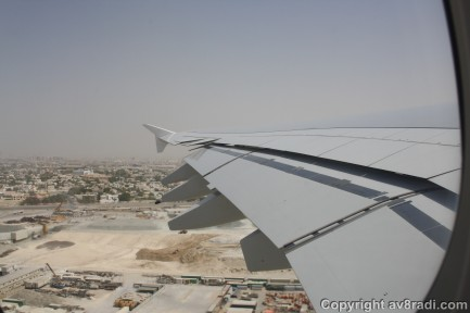 View of DXB- Overflying the construction site
