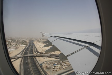 View of DXB (1) – Overflying the Emirates Road….the bloodline of the UAE