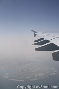 Overflying another iconic landmark in DXB – The Palm Island – Jumeirah