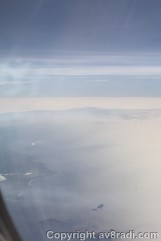 Coastline of France…now crossing the English Channel