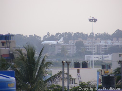 This is actually a common sight now….a private jet on approach