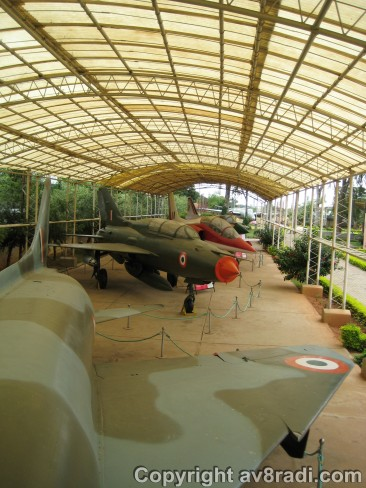 Over looking the Aircraft on display from the Marut