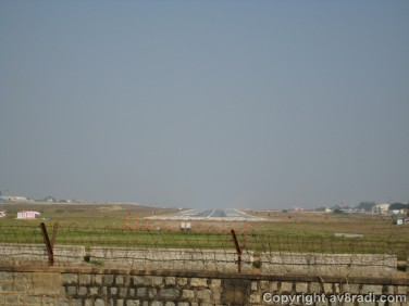 The runway…Apparently one of the widest runways in the country