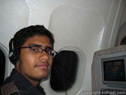 A rare (and old) pic of me inflight ;)