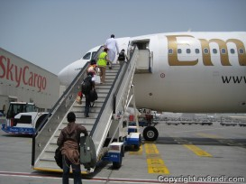 Boarding our Airbus A330-200