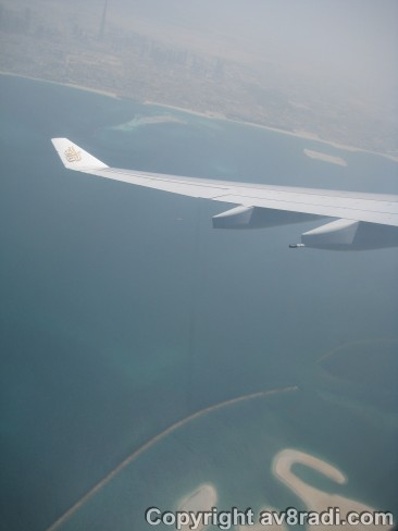 Dubai's Coastline and the 'World Islands' below