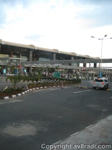 View of the new terminal, taken from the Bus Shuttle service to the city