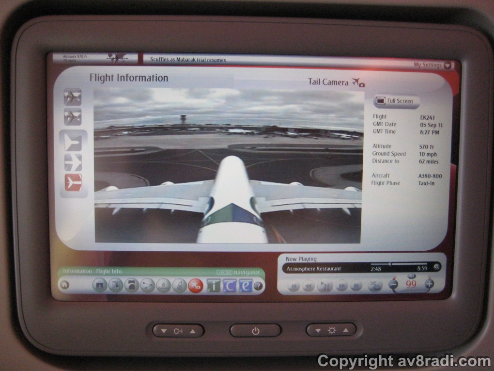 Details of our flight to YYZ