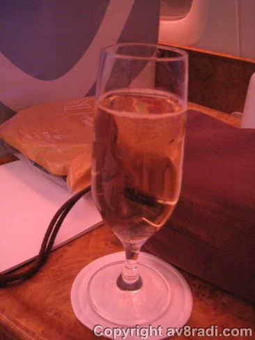 My welcome drink - Champagne