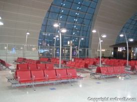 Seating area at an empty gate