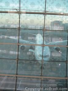 Another aircraft - an EK Boeing 777
