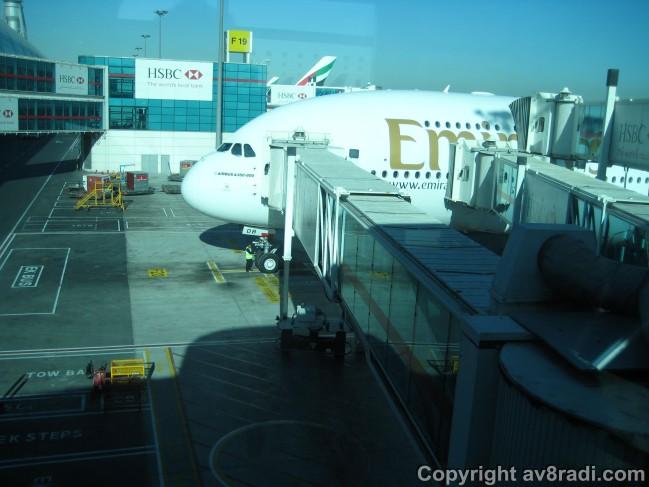 Boarding My EK Airbus A380 to YYZ (A6-EDB)