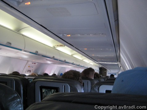 View of the cabin inflight