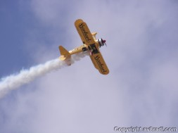 Just in case you thought wing walking was a piece of cake