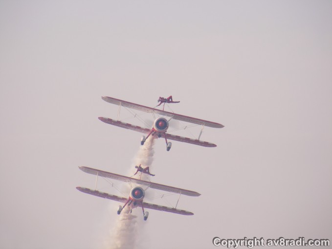 Wow...Not the kind of wing-walking i expected at all