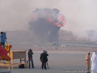 simualted explosion